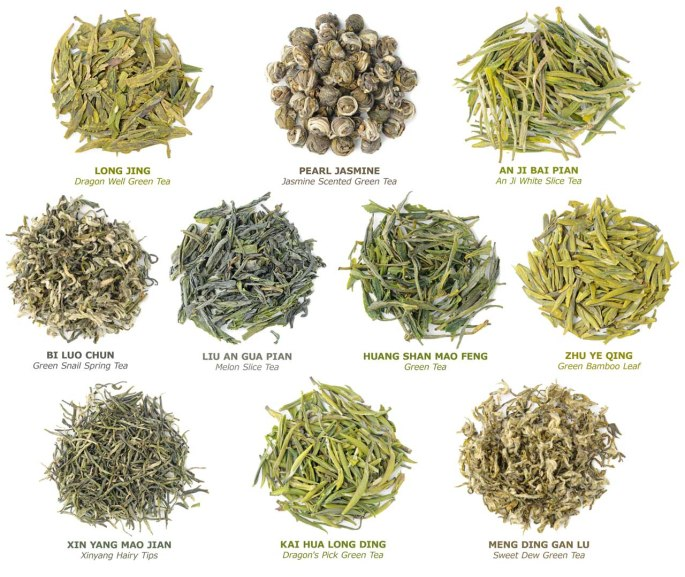 Chinese green tea types